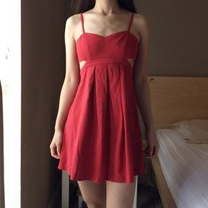 Urban Outfitters Sparkle&Fade Red Cutout Dress.